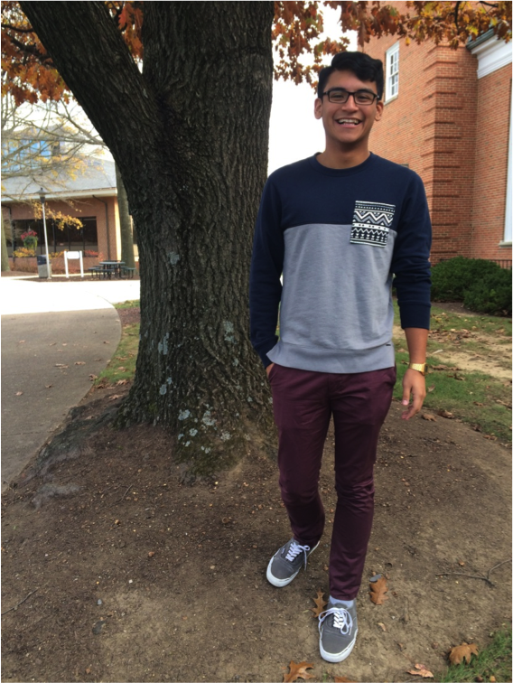 Junior Alex Monroe keeps things comfortable and fashionable in his Date Night attire.