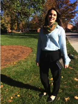 Sophomore Kelly Gordon puts a new spin on church attire with her modern look.
